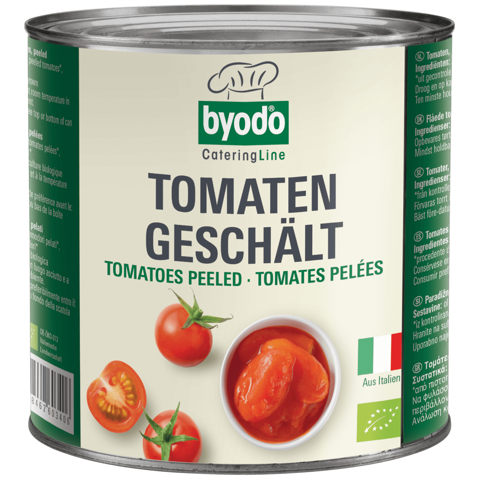 Bio-Tomaten geschaelt