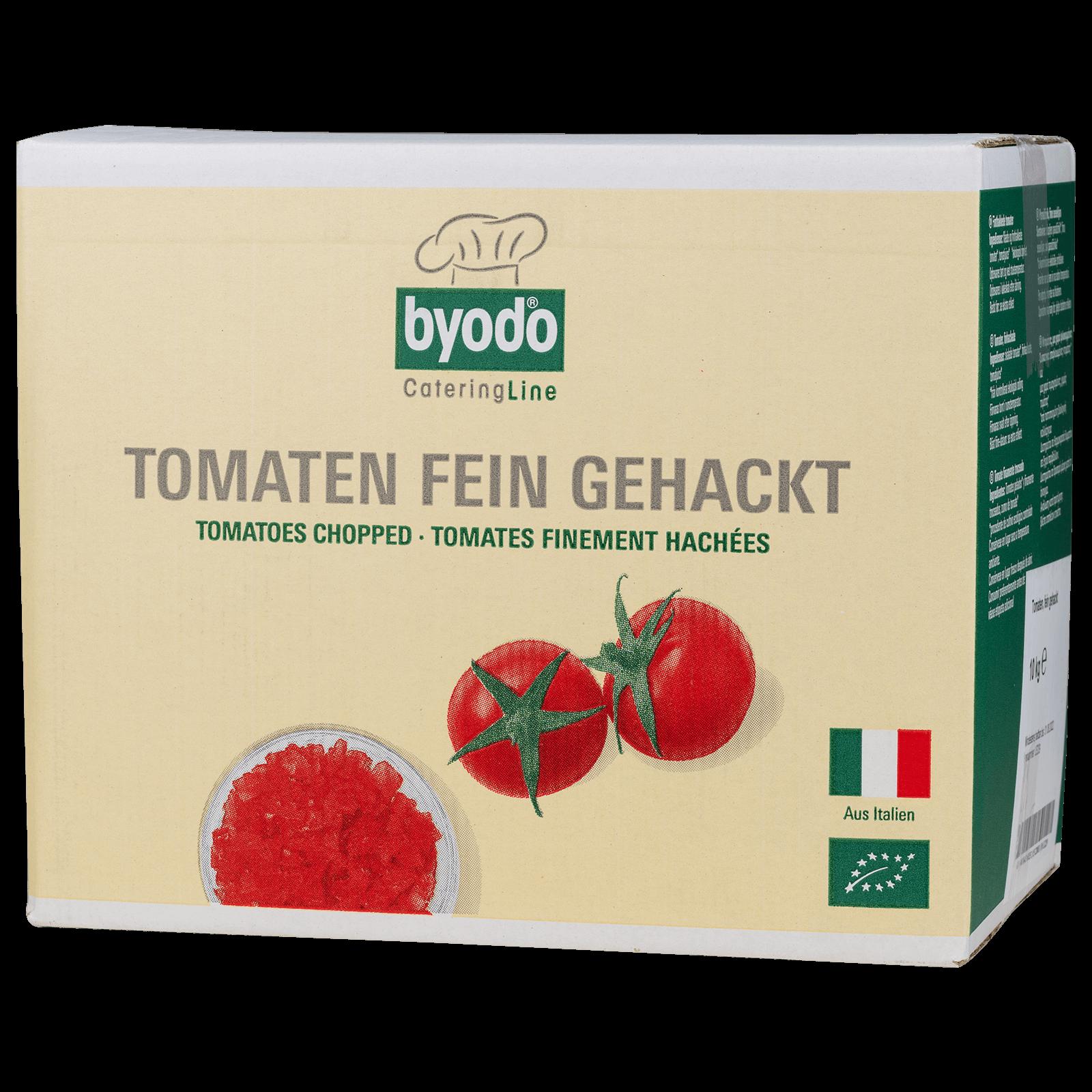 Bio-Tomaten fein gehackt